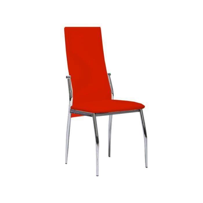 City chaise rouge salon salle manger bon prix for Chaise salle a manger rouge