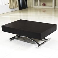 table basse relevable extensible cassidy noire