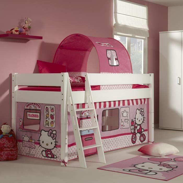 lit mi hauteur pour enfant design hello kitty moncornerdeco. Black Bedroom Furniture Sets. Home Design Ideas