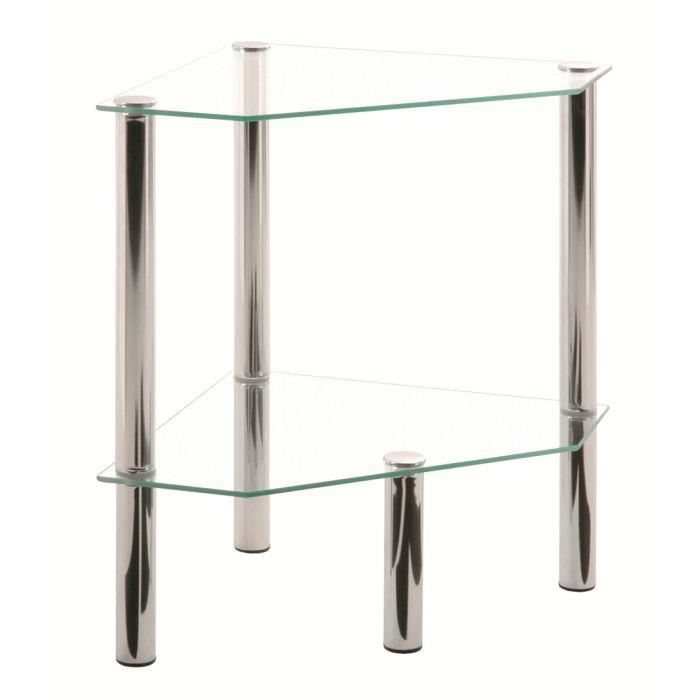 Table d 39 appoint d 39 angles swithome belly chrome meubles - Protection d angle de table ...