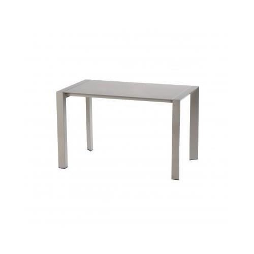 Table fixe noam taupe salon salle manger bon prix for Table a manger taupe