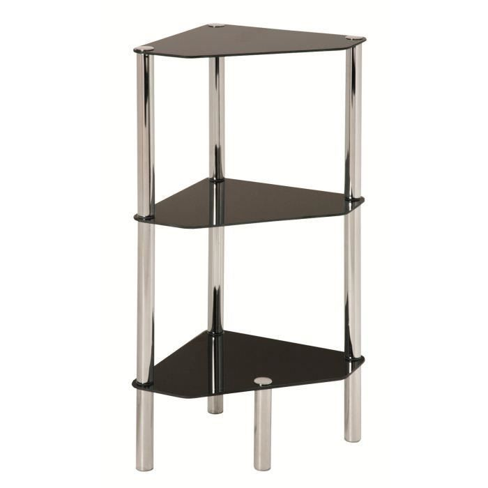 Etag re d 39 angles 3 rayons swithome belly chrome salon - Etagere d angle salon ...