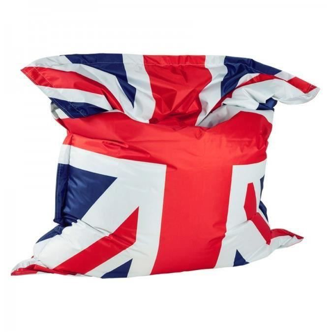 pouf g ant union jack drapeau anglais 168cm moncornerdeco. Black Bedroom Furniture Sets. Home Design Ideas