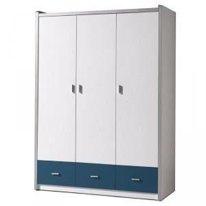 Armoire 3 portes bonny bleu paris prix chambre bon for Armoire de cuisine a bon prix