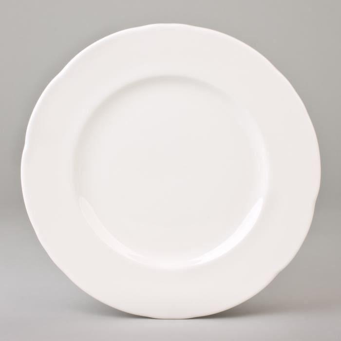 table passion assiette plate 28cm feston ivoi moncornerdeco. Black Bedroom Furniture Sets. Home Design Ideas