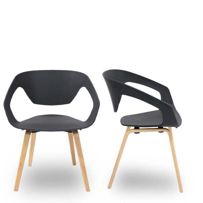 lot de 2 chaises design scandinave danwood couleur bon. Black Bedroom Furniture Sets. Home Design Ideas