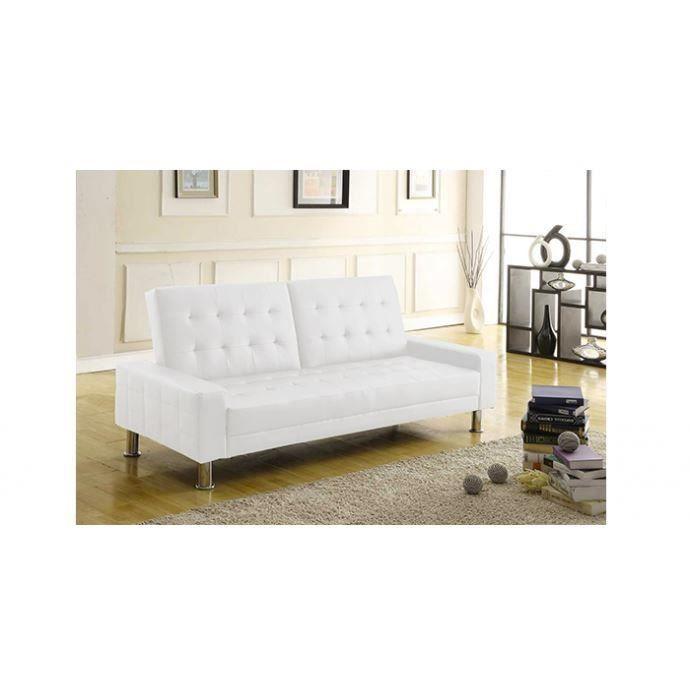 horus canap blanc convertible lit 3 personnes. Black Bedroom Furniture Sets. Home Design Ideas
