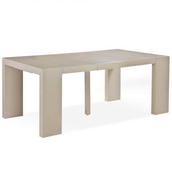 Table console woodini taupe clair salon salle manger - Table console menzzo ...