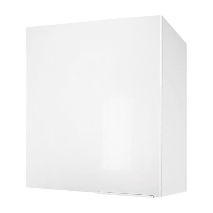 caisson haut de cuisine 60cm blanc haute brillance pop. Black Bedroom Furniture Sets. Home Design Ideas