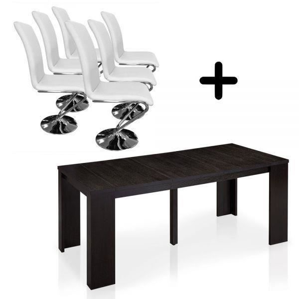 Table console extensible weng lisboa chaises fa salon salle mang - Table salle a manger console extensible ...