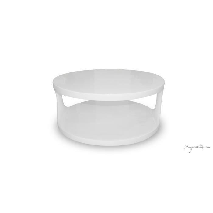 Table basse ronde laque blanc meubles bon prix moncornerdeco - Table basse blanc laque ronde ...