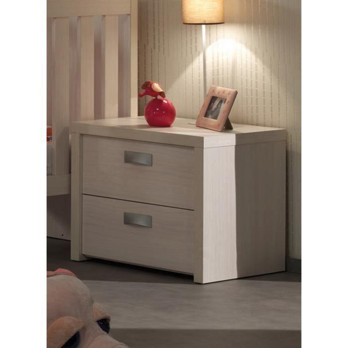 Table de chevet pour chambre b b coloris bouleau design - Chevet de chambre ...