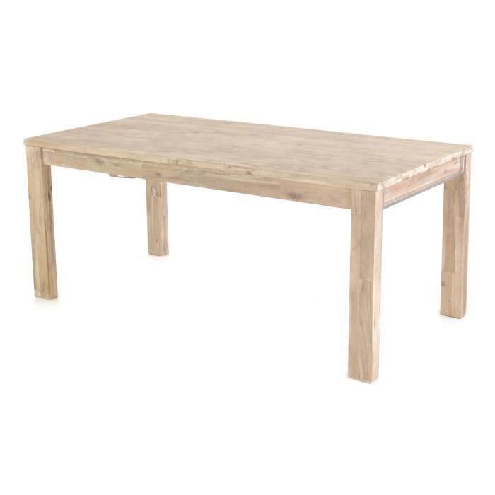 Table repas 180 cm avec rallonge de 50 cm salon salle for Table de salon avec rallonge