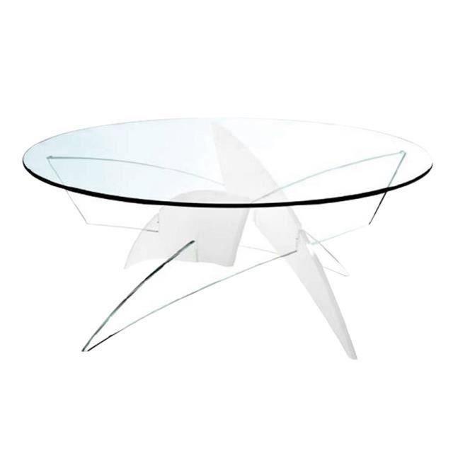table basse wind en verre et plexi salon salle manger bon prix moncornerdeco. Black Bedroom Furniture Sets. Home Design Ideas