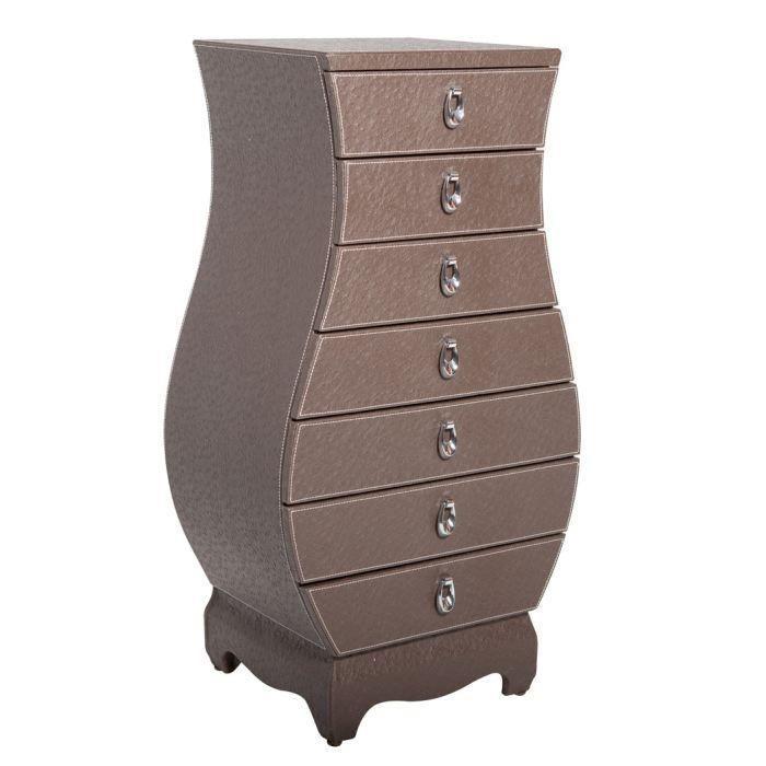 colonne de rangement aspect autruche marron moncornerdeco. Black Bedroom Furniture Sets. Home Design Ideas