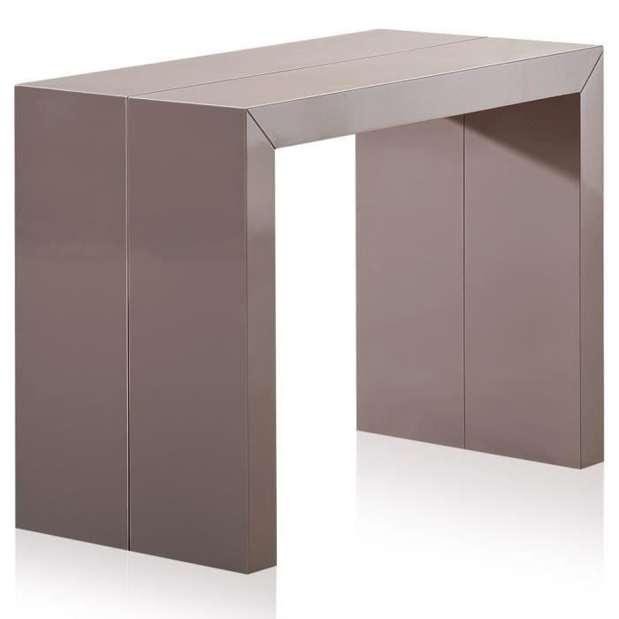 Table console nassau xl laqu e taupe salon salle - Console couleur taupe ...