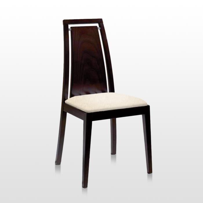 Lot de 2 chaise arpa bois weng tissu ecru salon for Chaise de salle a manger wenge