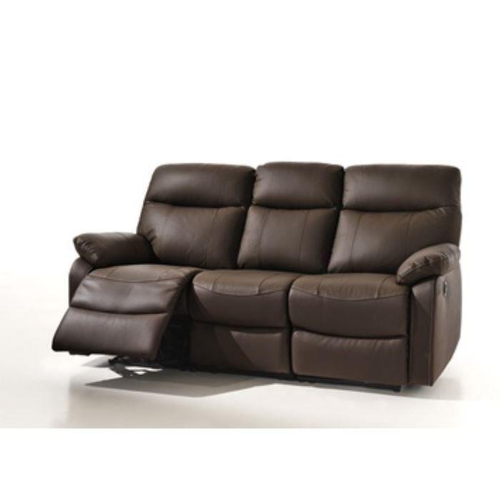banquette 3 places relax lectrique coloris ma salon. Black Bedroom Furniture Sets. Home Design Ideas