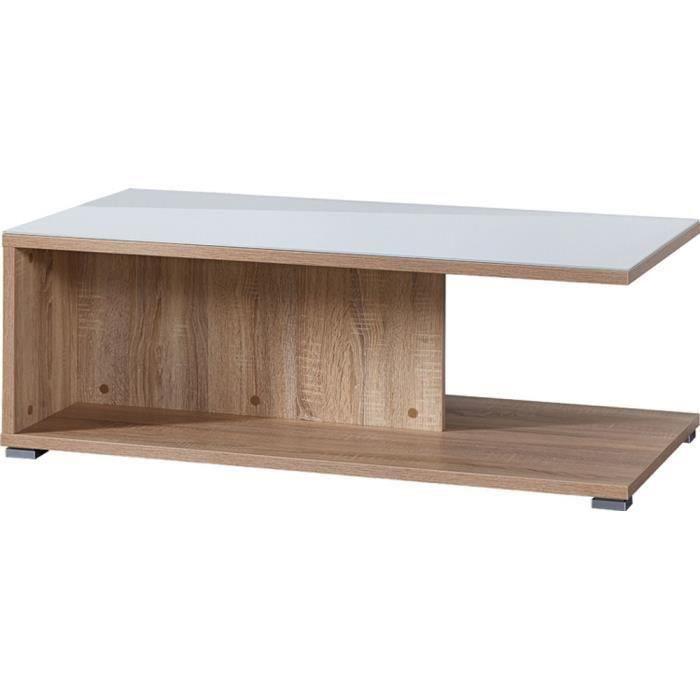 Table basse coloris ch ne sonoma repro blanc 109 for Table basse sonoma