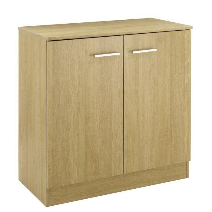 max bahut 77cm d cor ch ne baltic salon salle manger bon prix moncornerdeco. Black Bedroom Furniture Sets. Home Design Ideas