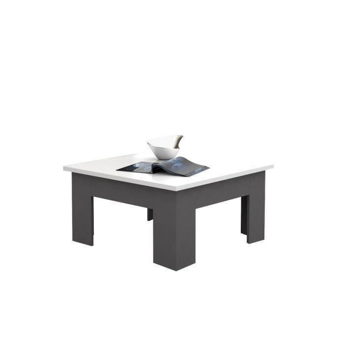 Table basse pilvi 75cm blanc gris finlandek meubles - Table basse hauteur 55 cm ...