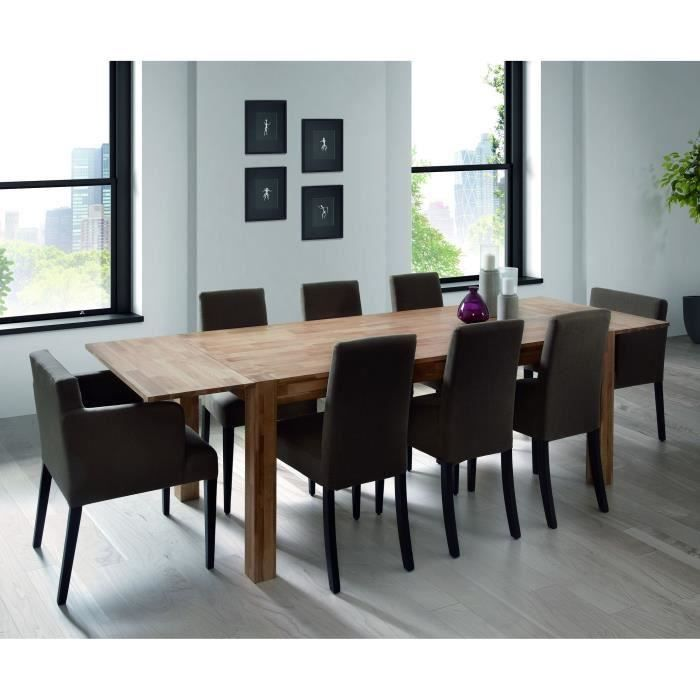 Table extensible chene massif 190 270 cm miles meubles for Table extensible chene massif