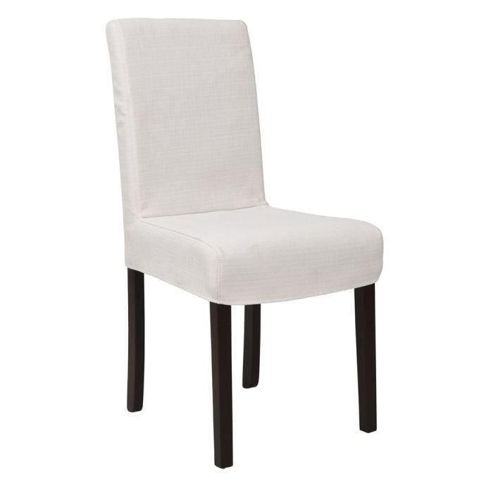 Strip lot de 2 chaises de salle manger dehoussables for Chaise salle manger dehoussable
