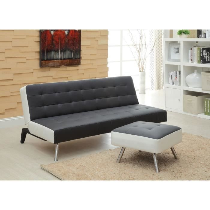 banquette convertible lit pouf 3 places si moncornerdeco. Black Bedroom Furniture Sets. Home Design Ideas