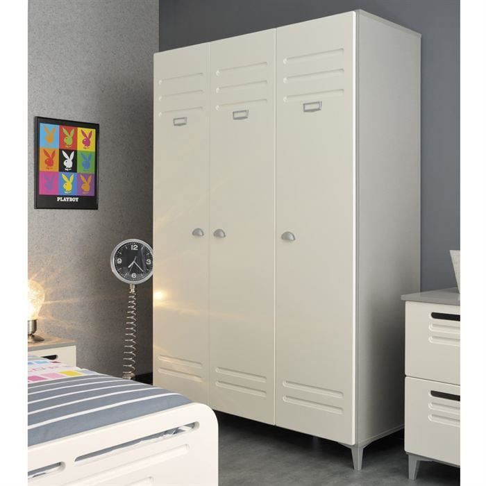 armoire 1 3 ling re 2 3 penderie en m tal moncornerdeco. Black Bedroom Furniture Sets. Home Design Ideas