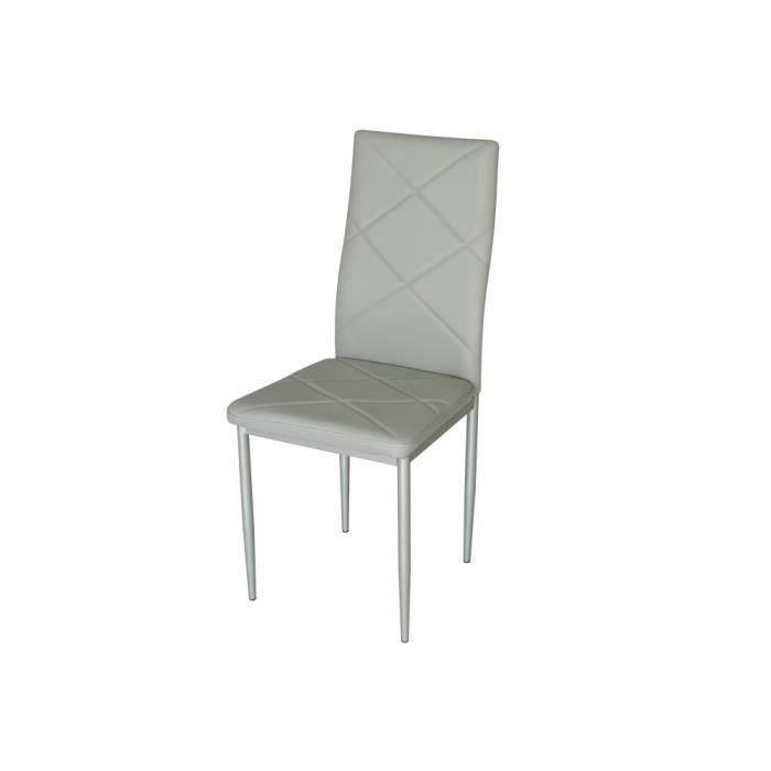 Lot de 4 chaises de salle manger losange salon salle for Lot 4 chaises salle manger