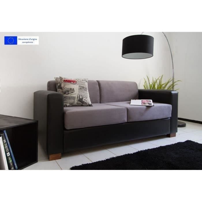 Canap convertible 3 places bicolore rodeo moncornerdeco - Canape convertible bicolore ...