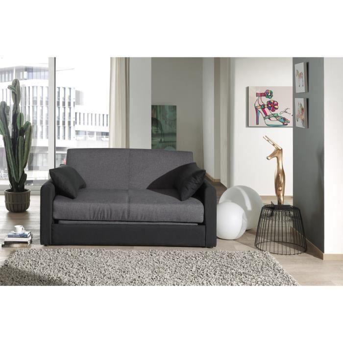 canap droit conv 2 places anthracite noir speedy moncornerdeco. Black Bedroom Furniture Sets. Home Design Ideas
