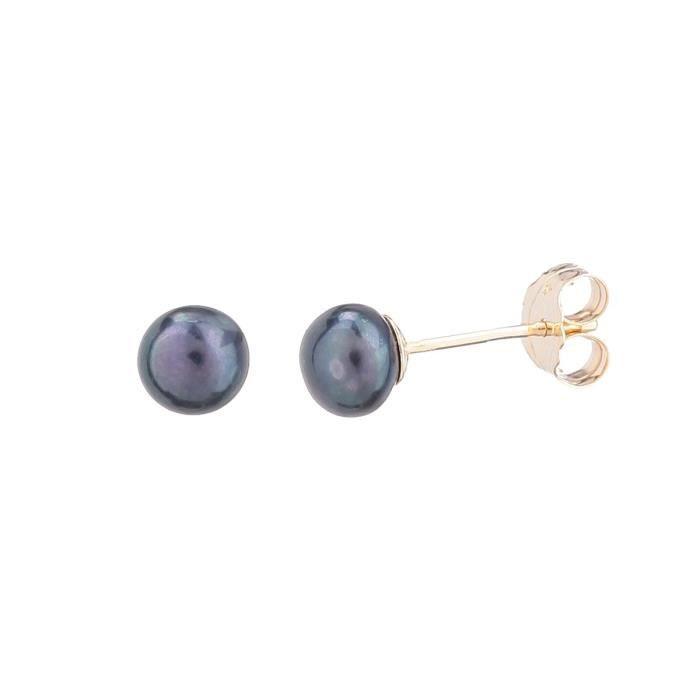 PERLINEA Boucles d'Oreilles Or Jaune 375° et Perles de Culture Femme