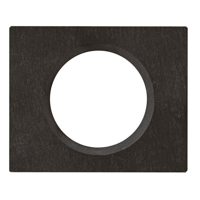 LEGRAND Plaque Céliane finition ardoise pour 1 poste - Noir ardoise