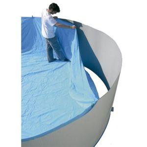 TORRENTE Liner pour piscine circulaire en PVC 640x120cm - Bleu