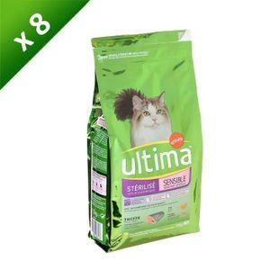 ULTIMA Croquettes ? la truite - Pour chat adulte stérilisé et sensible - (x8)