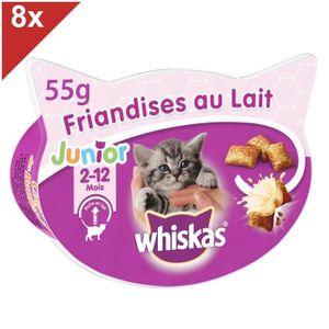 WHISKAS Friandises au lait - Pour chat junior - 55 g (x8)