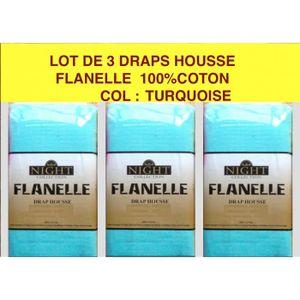 drap housse bleu flanelle achat vente drap housse bleu flanelle pas cher cdiscount. Black Bedroom Furniture Sets. Home Design Ideas