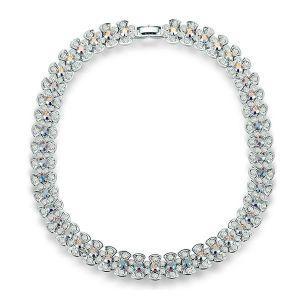 SAUTOIR ET COLLIER Collier Cristal de Swarovski Elements Blanc reflet