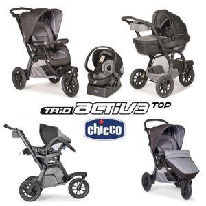 CHICCO Poussette combinée TRIO ACTIV3 TOP Grey