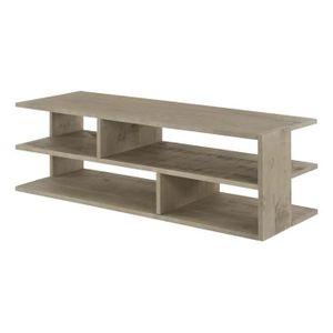 meuble tv 130cm achat vente meuble tv 130cm pas cher cdiscount. Black Bedroom Furniture Sets. Home Design Ideas