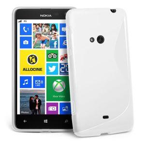 Coque Gel Vague S Nokia Lumia 625 + FILM Blanc
