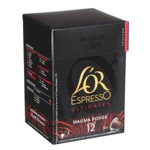 CAFÉ - CHICORÉE L'OR ESPRESSO Magma Rouge 10 Caps. 52g