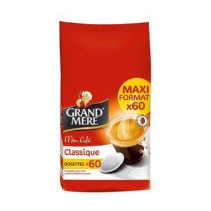 CAFÉ - CHICORÉE GRAND'MERE Classique Maxi Format 60 Dosettes 420g