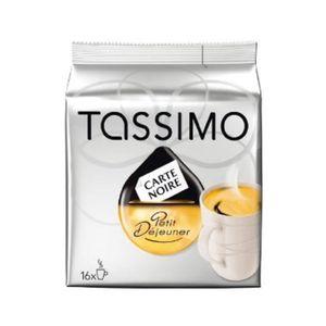 CAFÉ - CHICORÉE TASSIMO CARTE NOIRE Petit Déj. 16 T-discs 136g