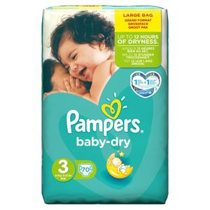 Couches pampers taille 3 achat vente couches pampers taille 3 pas cher cdiscount - Couche pampers baby dry taille 4 ...