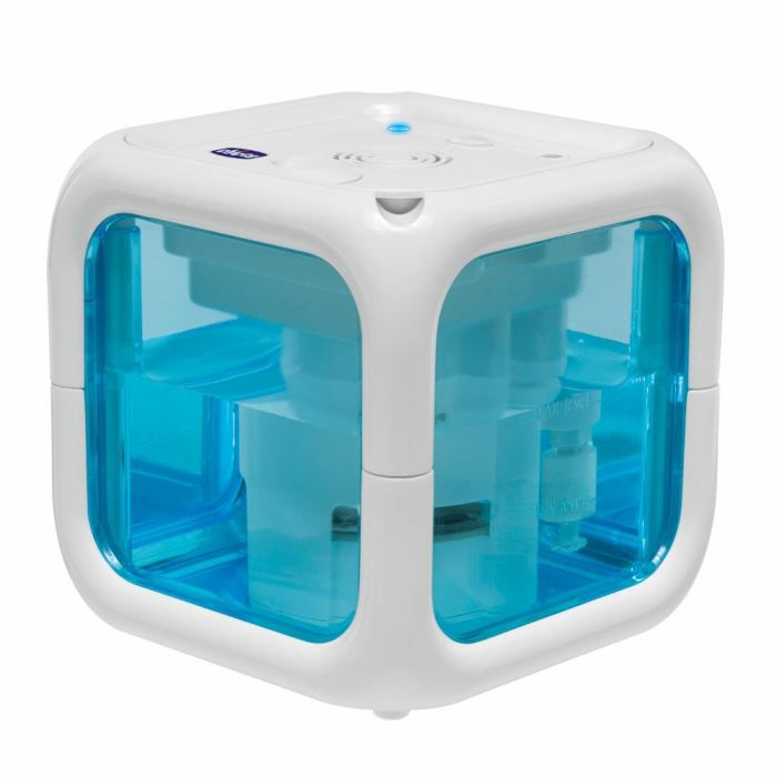 chicco humidificateur froid humi cube blanc et bleu. Black Bedroom Furniture Sets. Home Design Ideas