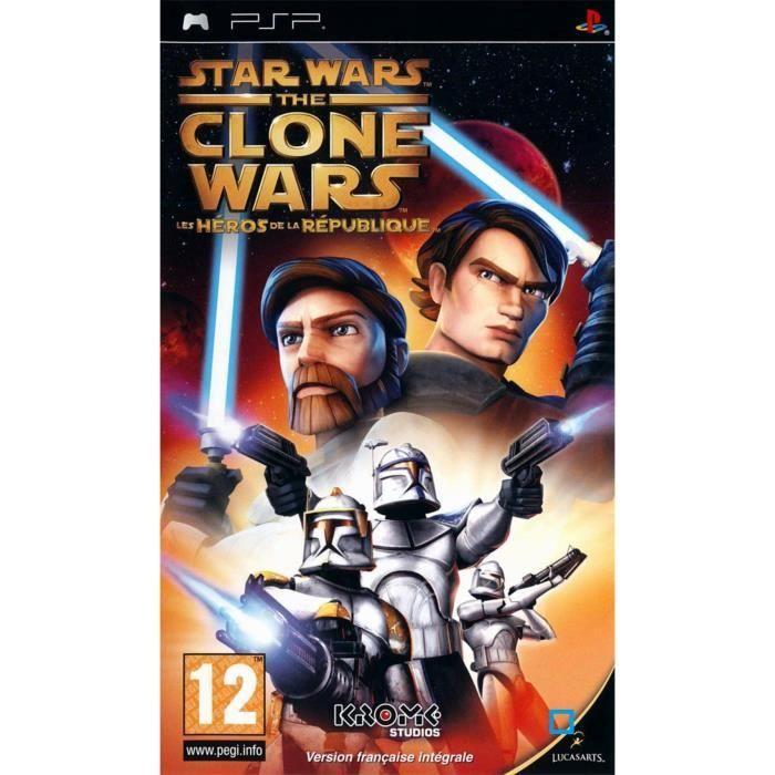 JEU PSP STAR WARS THE CLONE WARS : Les héros de la Républi