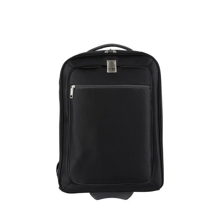 visa delsey sac dos trolley wps 48 cm easy fly noir achat vente sac de voyage. Black Bedroom Furniture Sets. Home Design Ideas