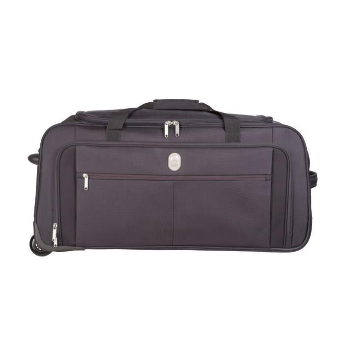 visa delsey sac de voyage roulettes souple 2 roues 35 5cm pin up5 noir noir achat vente. Black Bedroom Furniture Sets. Home Design Ideas